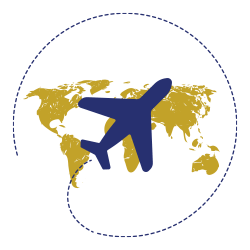 Plane Over Earth Icon