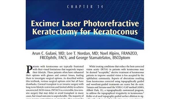 Excimer Laser Photorefractive Keratectomy for Keratoconus