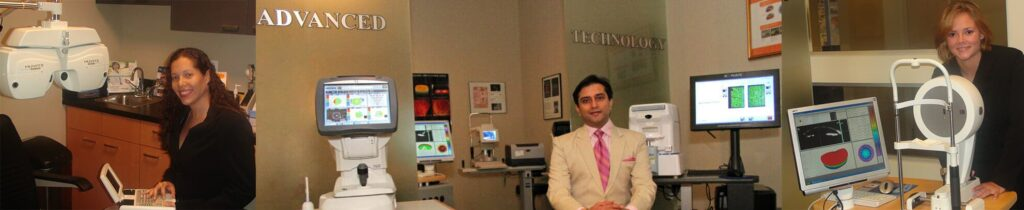 individual optometrists posing for pictures with their equipment