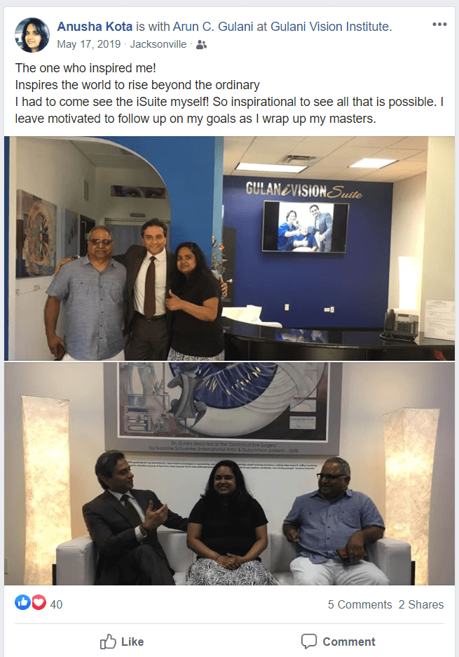 Anusha Kota social media post
