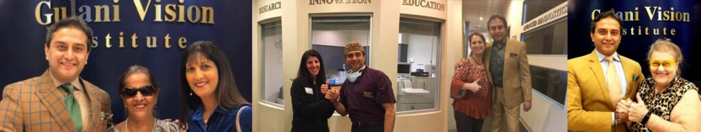 Dr. Gulani posing with his patients