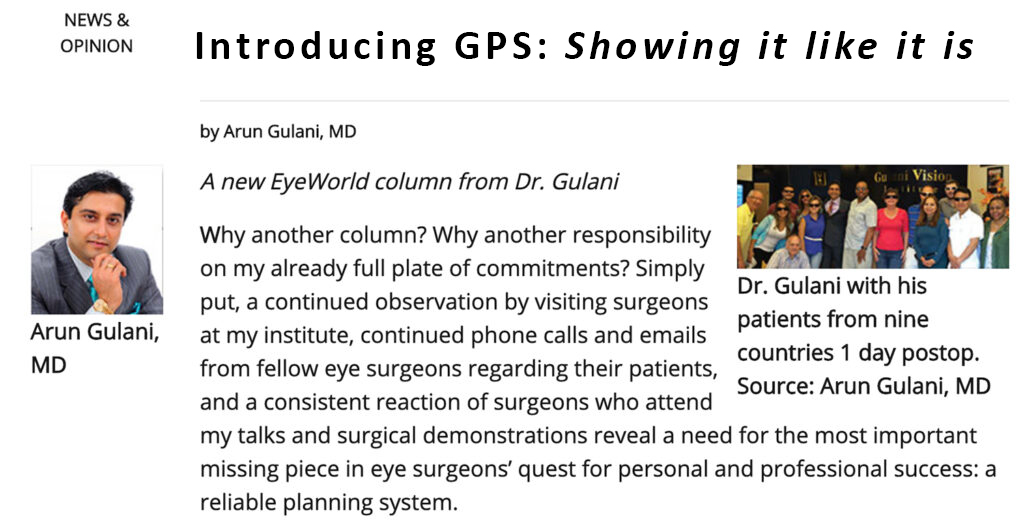 Introducing GPS from Dr. Arun Gulani
