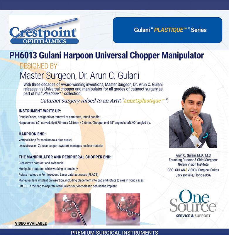 Gulani Harpoon Universal Chopper Manipulator designed by Master Surgeon Dr. Arun C. Gulani