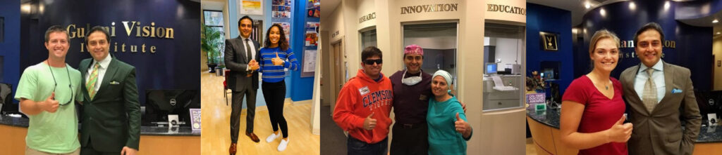Dr. Gulani posing with his Jacksonville LASIK patients