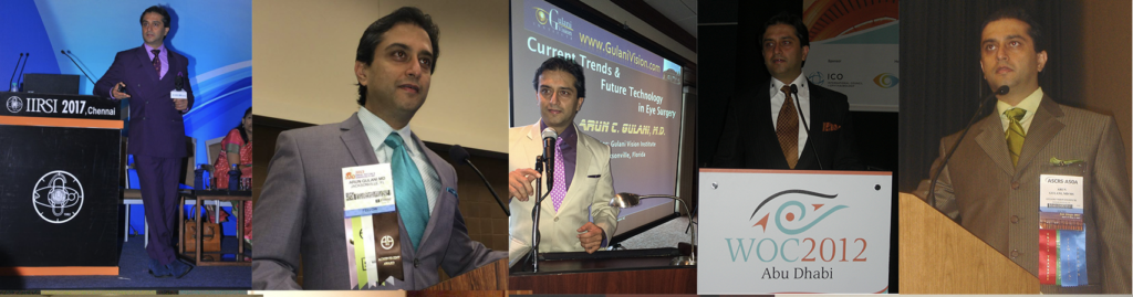 ophthalmologist dr gulani speaking at an event