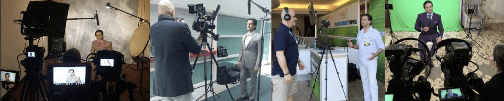 Dr. Gulani being filmed