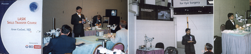 ophthalmologist dr gulani teaching other ophthalmologists how to use lasik equipment