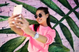 A woman taking the selfie